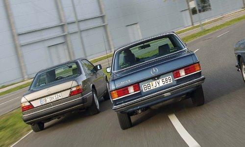 Mercedes Schönheiten aus drei Jahrzehnten.