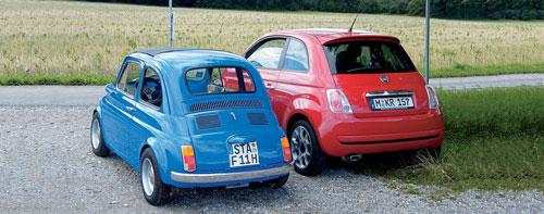 Fiat »Nuova 500« und Fiat 500 im Vergleich
