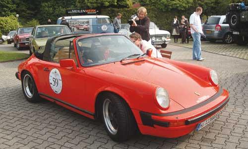 Mit einem Porsche 911 SC ging es auf Ruhrgebiets-Tour.