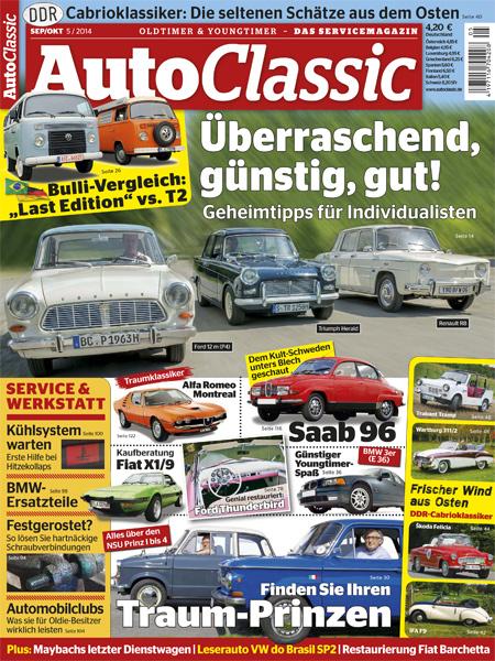 inhaltsverzeichnis ausgabe 05 14 auto classic magazin. Black Bedroom Furniture Sets. Home Design Ideas